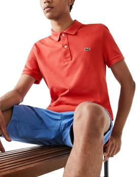Polo Lacoste PH4012 Slim Fit red man